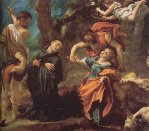 Martirio de los Santos. Lienzo de Antonio Allegri da Correggio. Galleria Nazionale de Parma, Italia.