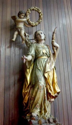 Imagen de la Santa venerada en Mequinenza, España.