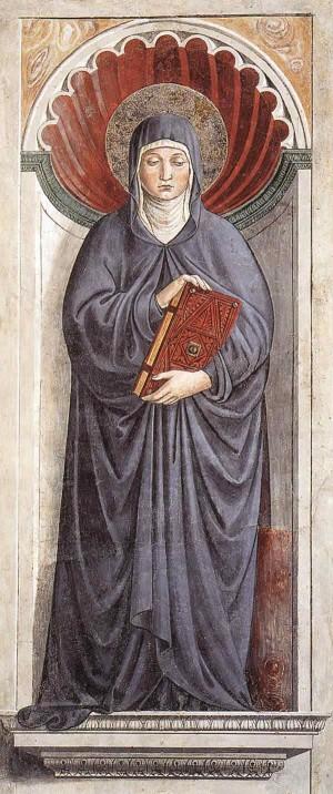 Fresco de la Santa obra de Benozzo Gozzoli (1464-65). Capilla de San Agustín, San Gimignano (Italia).