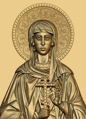Icono ortodoxo ruso de Santa Ariadna, desdoblamiento de Santa María la Esclava.