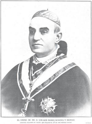 Retrato del cardenal como arzobispo de Valencia.