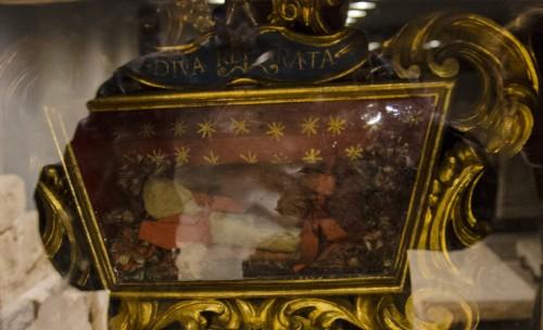 Relicario de la Santa. Cripta de la catedral de Santa Maria del Fiore, Florencia (Italia).