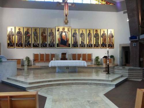 Interior de la iglesia de San Timoteo en Roma (Italia).