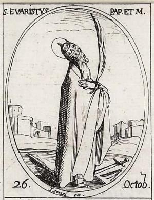 Grabado del Santo, obra de Jacques Callot.