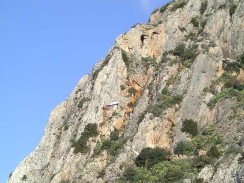 Zona de Kavsokalivia, en el Monte Athos (Grecia).