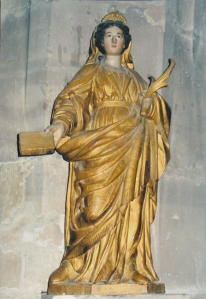 Imagen de Santa Libaria en su iglesia de Rambervillers, Francia.