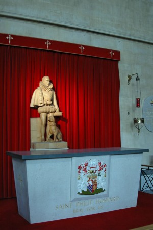 Sepulcro del Santo. Catedral de Arundel-Brighton, Reino Unido.