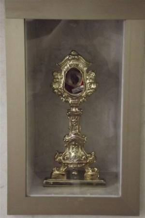 Relicario en la iglesia de San Nicolás, Marina de Longobardi (Cosenza).