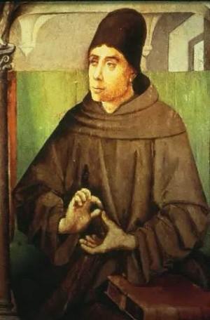 Tabla flamenca del Santo, anónimo de Gante (ca. 1460-80).