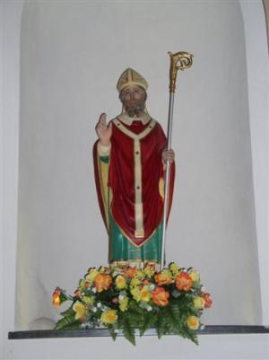 Imagen contemporánea del Santo en su iglesia de Tornavento, Italia.