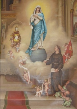 El Beato Juan Duns Scoto ante la Inmaculada Concepción.