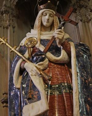 Escultura de la Santa venerada en la iglesia jesuita de Farm Street, Londres (Reino Unido). Fotografía: Lawrence OP.