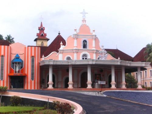Monasterio de Mannanam, Kerala (India).