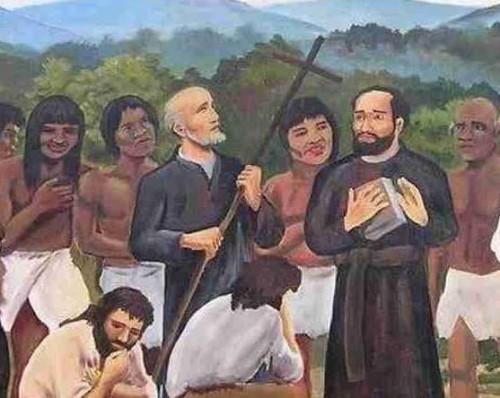 Detalle de los mártires del Zenta en un lienzo contemporáneo.