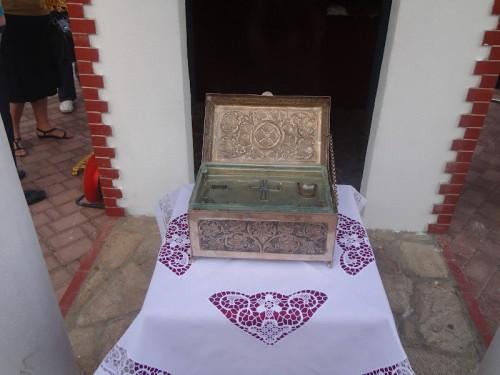 Reliquia de San Pacomio en visita a Salonica, Grecia.