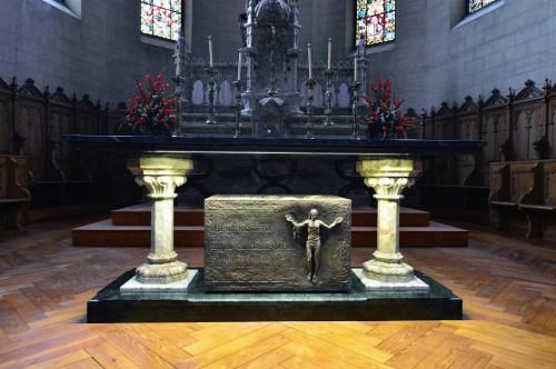 Actual sepulcro del Beato. Fotografía cortesía del Obispado de Vitoria, España.