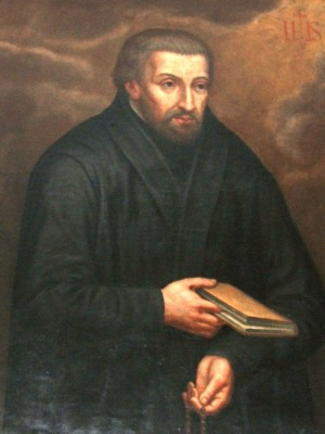 Lienzo. de San Pedro Canisio. Colegio de San Miguel de Friburgo, siglo XVII.