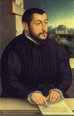 Retrato de san Pedro Canisio realizado en 1546.