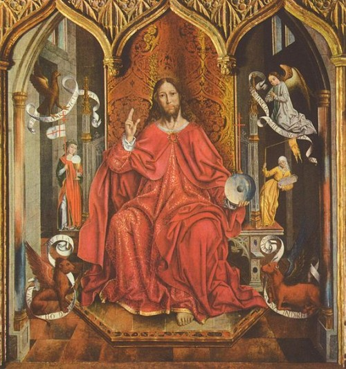 """Salvator Mundi"", tabla gótica de Fernando Gallego."