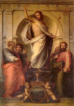 """Salvator Mundi"", lienzo de Fra Bartolommeo."