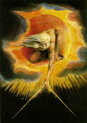 """El Anciano de los Días"", lienzo de William Blake."