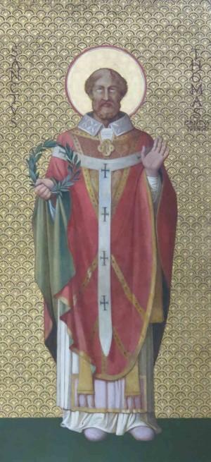 Pintura decimonónica del Santo. Iglesia de Saint Gervais, Rouen (Francia).