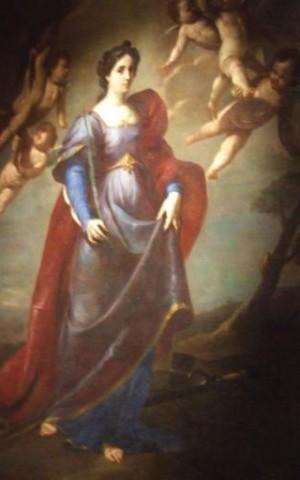 Lienzo barroco de la Santa. Catedral de Gaeta, Italia.
