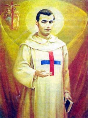 Estampa devocional del Beato trinitario. Fuente: samuelmiranda.com