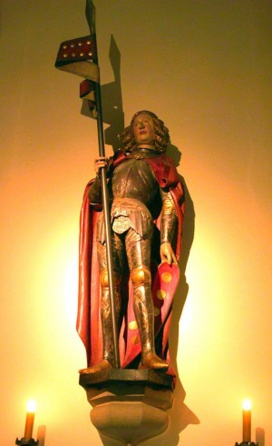 Escultura de San Quirino de Roma en la Catedral de Neuss (Alemania).