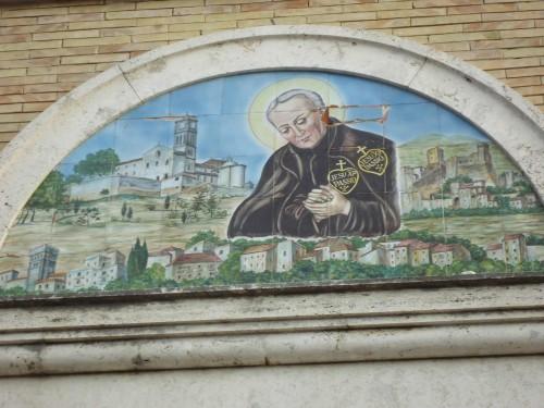 Azulejo del Santo en el Santuario Della Cività.