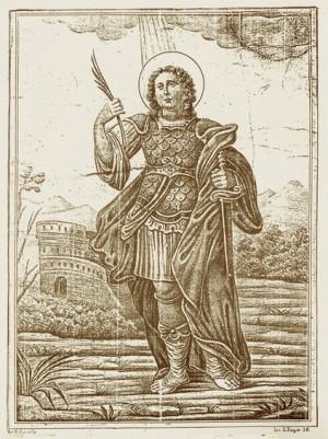 Litografía de San Primiano. F. Apicella,