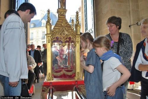 Reliquias de San Melanio en Rennes (Francia).