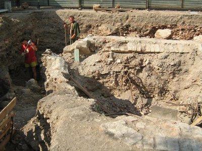 Lugar donde fueron encontradas las reliquias el 2 de noviembre del 2012.