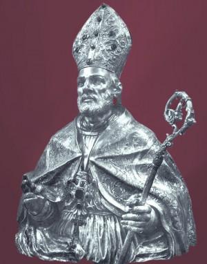 Busto relicario de San Pardo. Catedral de Larino, Italia.
