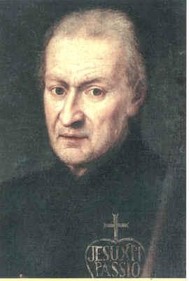 Retrato de San Pablo de la Cruz, obra de Domenico Della Porta (XVIII), que se encuentra en la iglesia romana de los santos Juan y Pablo.