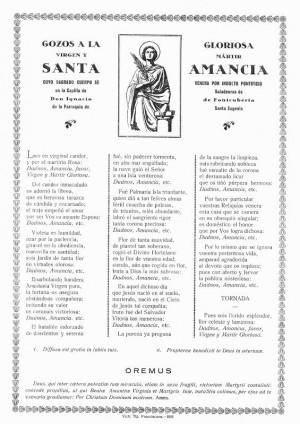 Gozos en honor a la Santa. Edición moderna, cuando ya era venerada en Santa Eugenia de Berga.