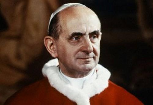 El Beato Pablo VI, papa.