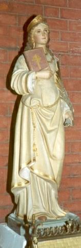 Imagen decimonónica de Santa Benedicta de Lyon. Iglesia parroquial de Origny-Sainte-Benôite, Francia.