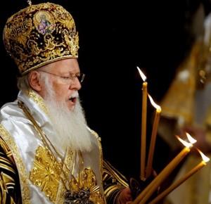 S.S. Bartolomé I, Patriarca Ecuménico de Constantinopla.