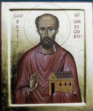Icono de San Betti, apóstol de Anglia y Mercia.