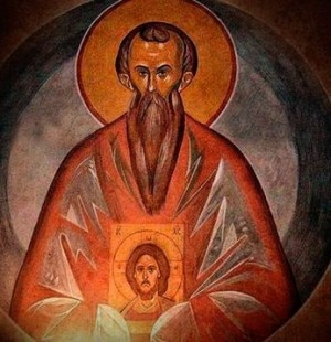 Fresco ortodoxo de San Esteban de Constantinopla.