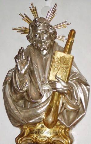 Busto barroco alemán del Santo apóstol.