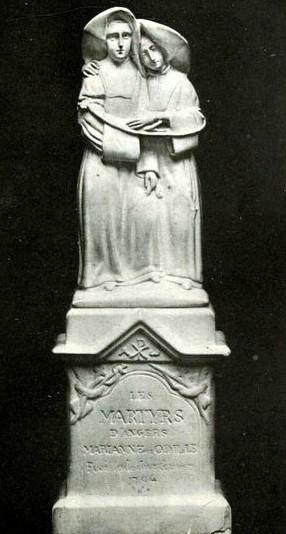 Monumento dedicado a las Beatas en Angers, Francia.