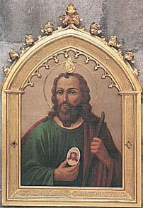 Tabla del Santo en la Piccola Casa, Roma (Italia).