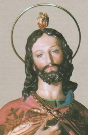 Detalle de una imagen del Santo venerada en Racconigi, Italia.