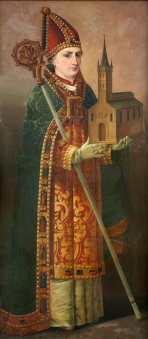 Lienzo del Santo, obra de de Siegfried Detlev Bendixen, 1823.