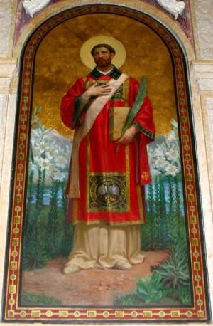 Pintura en la iglesia de San Calimero, Milán (Italia).