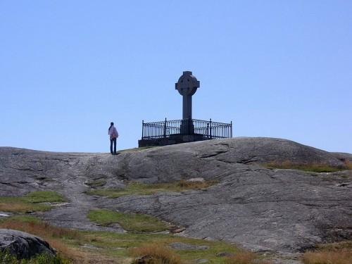 Cruz de san Óscar en Birka.
