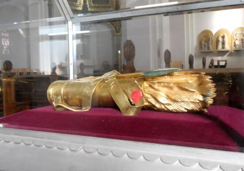 Reliquias en la catedral de Hamburgo (Alemania).
