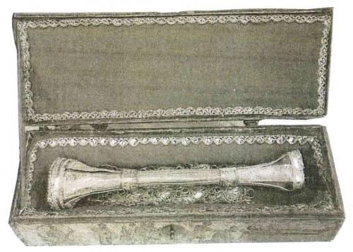 Relicario del santo conservado en la catedral de Skópelos (Grecia).